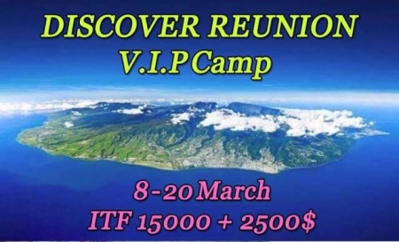 Discover Reunion | VIP Camp + 2 ITF beach tennis tournaments - 15000$ + 2500$